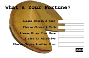 Fortune Cookie Mad Libs